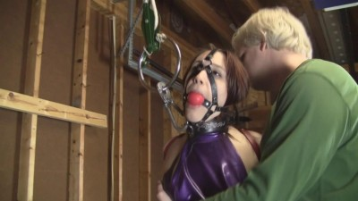 Ariel Marie Warehouse Latex Clad Secretary Head Harness Gagged (2015)