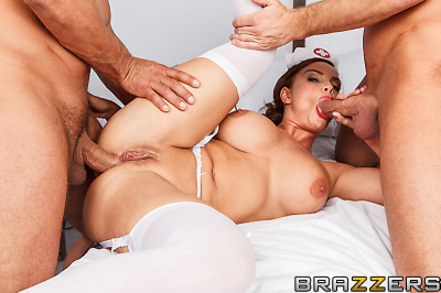 Busty Nurse Comes To Take Good Care Of Patients