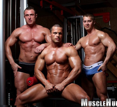 Jiri  Lasik  Carl  Payne  and  Nathan  Wood  Muscle  Worship  Fantasy