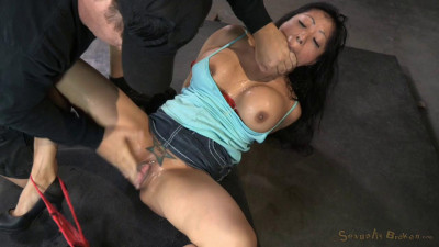 Big breasted Asian Gaia totally destroyed by dick, epic deepthroat on huge cock! (2014)