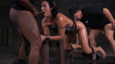 Description Fit MILF Wenona belted in strict bondage and roughly fucked with BBC, brutal punishing deepthroat!