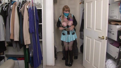 Bound And Gagged – Wrap-Gagged Big-Boobed LadyCop Gets Gropede
