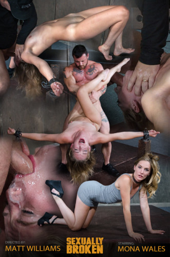 Hot Domme Mona Wales, is bound down and brutally dicked down, rough face fucking and Os (2016)