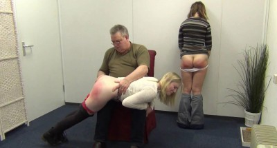 Masie Dee Satine Spark get spanked for forgetting the clocks were put one hour forward (2015)