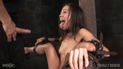 Sexy Asian fuck doll Kalina Ryu bound and spread wide, then roughly pounded in mouth and pussy!