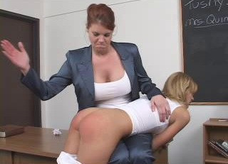Badtushy Videos - 30 Scenes Featuring Lesbian Teachers Spanking Naughty Schoolgirls