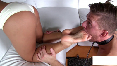 Deeper shove it into his mouth my feet