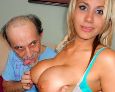 Grandpa fucks busty blonde gorgeous