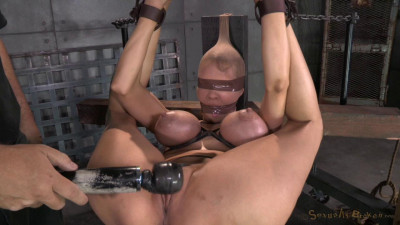 Description Huge beasted Rain DeGrey restrained in strict bondage, ASS fucked hard and bred by 2 big dicks!