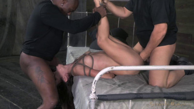 Tiny Amber Deepthroats 10 Inches Of Black Cock Rough Anal Sex And Bondage