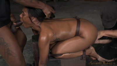 Chanell Heart Bound Doggystyle And Fucked Hard From Both Ends!