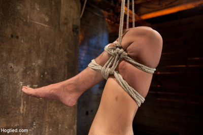 Tiny Flexible Brunette Suffers A Category 5 Suspension While Being Made To Cum Over And Over