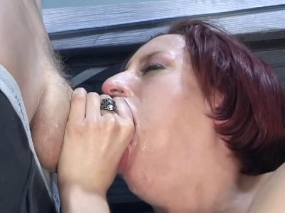 Sucking on two cocks