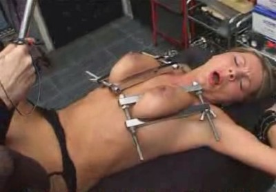 Hilde Hanging Upside Down with her Tits - Torture Galaxy
