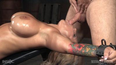 Alyssa Lynn - Busty cum slut throat trained on huge cock while cumming her brains out (2015)