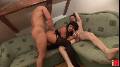 Kristyna and her Boyfriend Invite Some Extra Cock to Play (2013)