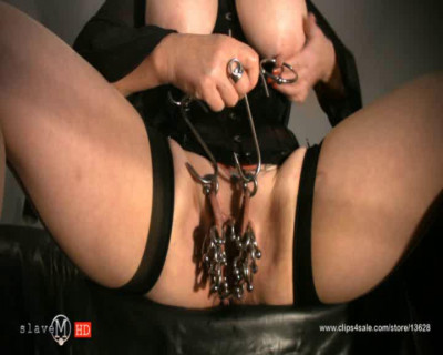 SlaveM  – Clip4sale – Chubby Babe In Black Corset Tortured Her Pussy