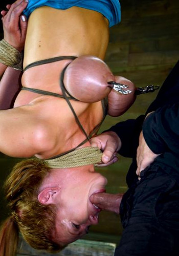 Inverted Hell, Hot Blond With Massive Tits, Suffers A Zipper And Rough Deepthroat Action