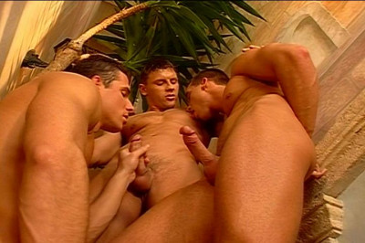 [Pacific Sun Entertainment]  Leslie Manzel Enjoys Sharing His Dick With Two Hung Studs