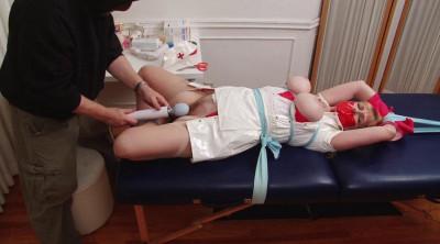 Bound and Gagged - Gagging Nurse Boobie  Part 2 - Vibrator Bondage Orgasm for Lorelei