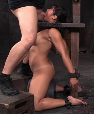 Busty Asian Mia Li Shackled To Sybian