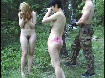 Her First Punishment - Paintball