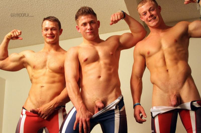 GHoopla - Colt Mclaire with Tyler Hanson and Daniel Carter - Wrestling Buddies Jerk OFF