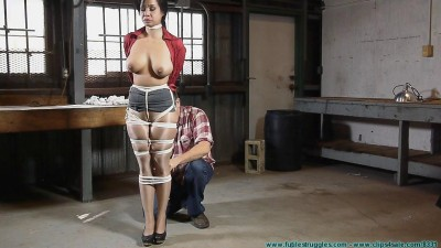 Kimmy Lee Hogtied In The New Studio – Part 1