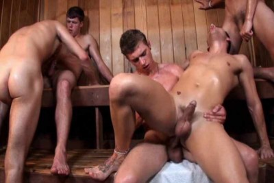 Hot Gangbang At Bath House