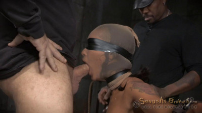 Skin Diamond Restrained And Roughly Fucked By 2 Cocks