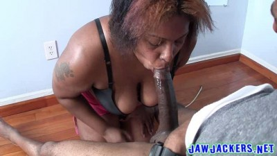 big tit ebony nesha hot blowjob
