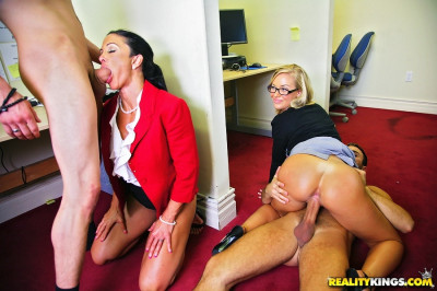 Girls Decide To Undress Guys At Office