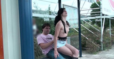 Anal At The Bus Stop