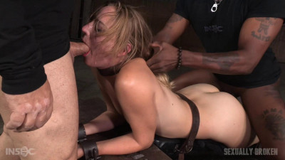 Bound, shackled and throat trained