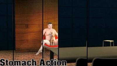 3D XXX Gay Stomach Action