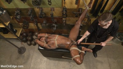 Hung KinkMen PA Explores the Bondage Wall and Gets Edged