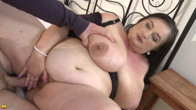 big boob bbw dark haired granny amazing fuck