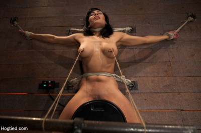 Nipples Pull 1 Way, Neck Rope Pulls The Other. 2 Options – Breathe Or Suffer. All While Cumming.
