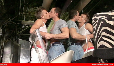 Florian & Kristof - Hot Gay Jocks First BJ