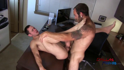 Dallas Reeves — Bareback Office Fuck Staring Maxx Fitch and Dalton Pierce