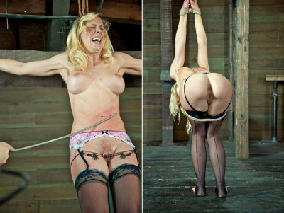 Super-sexy girl in bondage