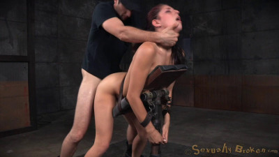 Nikki Knightly bound down and roughly fucked