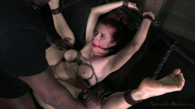 Tiny, Big Natural Breasted Redhead Penny Pax Fucked Into The Ground By 2 Dicks