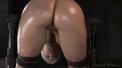 SexuallyBroken - Nov 21, 2014 - Sexy Cherry Torn bent over in strict device bondage