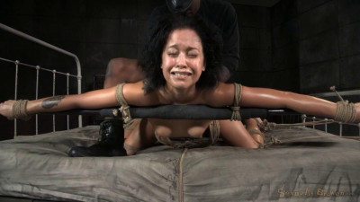 Mia Austin Is Tightly Tied With Drooling Deepthroat And Brutal Fucking