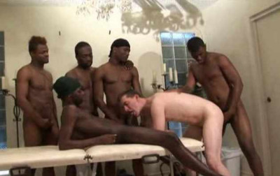 Black Gangbang For White Ass