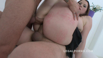 Big butt slut Carol Wings double anal Dap with 3 cocks Pawg anal (2016)
