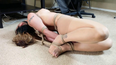 Hogtied in Pantyhose and it Part 2 - Asiana Wants the Floor