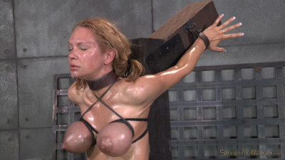 SexuallyBroken - Oct 01, 2014 - Rain DeGrey throatboarded on top of sybian by two big dicks