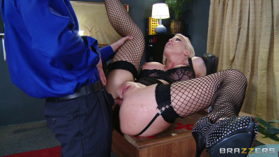 Busty Blonde Loves When Her Chief Treats Her